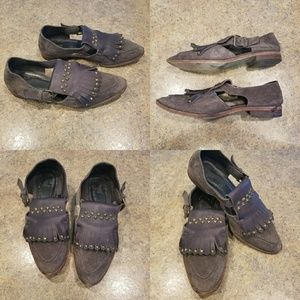 Hoss Intropia studded loafer sandals